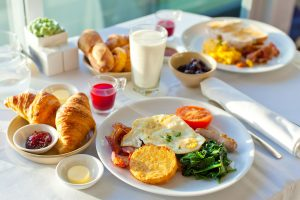 28257900 - delicious breakfast for two at the luxury hotel