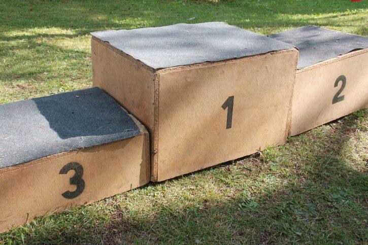 44656227 - winner podium used in children summer games
