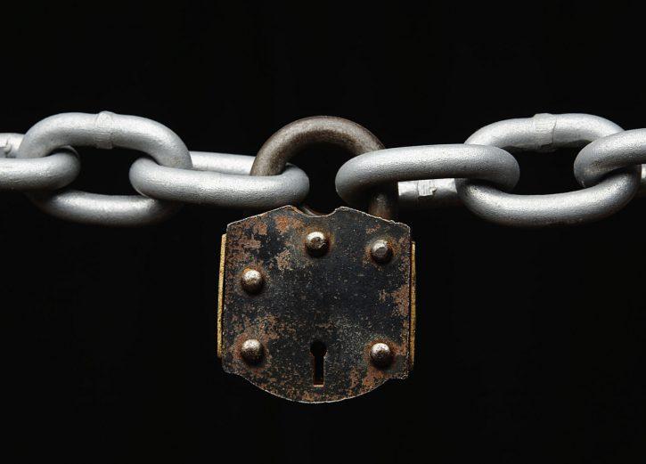 23033215 - padlock on chain